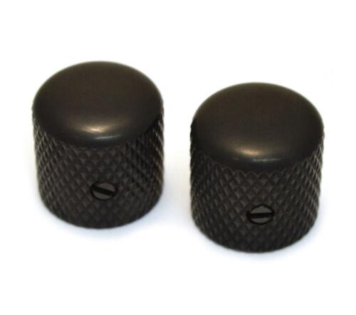 2 Black Vintage Style Dome Knobs for 6mm Split Shaft MK-VDS-B