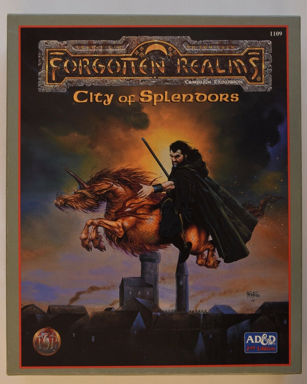AD &D - CITY OF SPLEDORS - Forget Realms låda Set - Dungeons &drakes