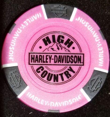 Neon Pink Harley Davidson Poker Chip High Country Frederick Colorado