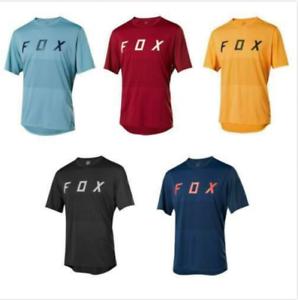 FOX Mens Cycling Jersey Mountain Bike T-shirt MTB Racing Motocross Short Sleeve