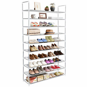 50-Pair-10-Tier-Space-Saving-Storage-Organizer-Free-Standing-Shoe-Tower-Rack