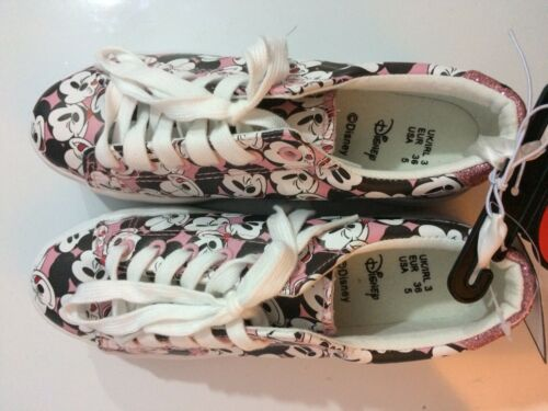 Ladies DISNEY Classic Mickey Mouse Casual Trainers Pink White Christmas Gift