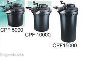 Filtro per laghetto cpf 5000 lt 8000 cpf 10000 lt 12000 for Filtro per laghetto esterno
