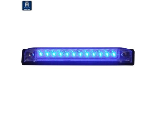 """TH Marine Boat 4/"""" Submersible Slim Line Light BLUE LED Above or Below Water Use"""