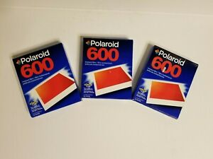 Polaroid-600-Instant-Film-Lot-of-3-10-Count-New-Sealed-Expired-VINTAGE
