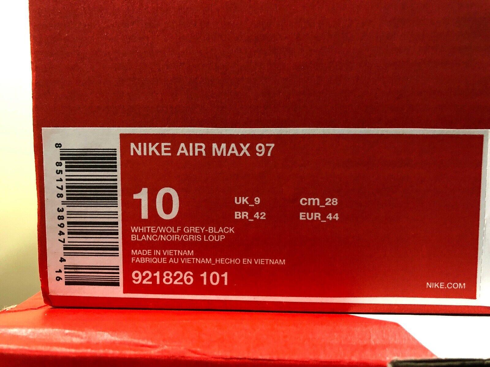innovative design 788dc 6d398 Nike Air Max 97 OG Triple White Wolf Grey Men Shoes SNEAKERS 921826-101 10  for sale online | eBay