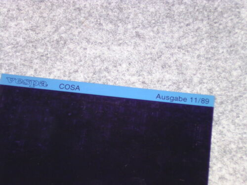 Microfich catalogue de pièces de rechange liste piaggio vespa Cosa 200 vsr1t 125 vnr1t 1989