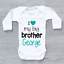 Personalised I Love My Big Brother Unisex Baby Grow Bodysuit