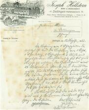 altes Dokument, Joseph Hellstern, Möbelfabrik Dettingen (Horb) 1923 #E758