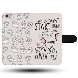 Ladies-Don-039-t-Start-Fights-Marie-Aristocats-Quote-Disney-Fabric-Phone-Case-Cover