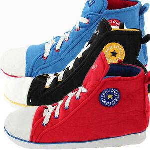 a56ba75531a2 Mens Boys Novelty Chuck Taylor style Converze Slippers Boot Hightop ...