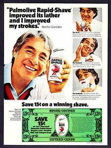 1976-Tennis-Star-Pancho-Gonzales-photo-Rapid-Shave-Ad