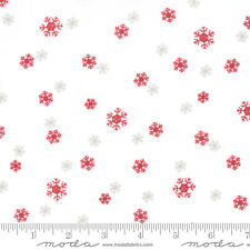 """JOL Snowflakes White #04-12 Christmas Moda Quilting Fabric  17"""" remnant #RB"""