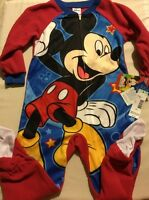 Toddler Blanket Sleeper Pajamas Soft Brushed Flame Resistant Mickey Mouse 4t