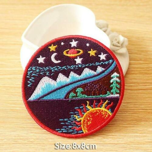 Wilderness Camping Mountain Patch Embroidered Patches For Clothing Iron On Patch