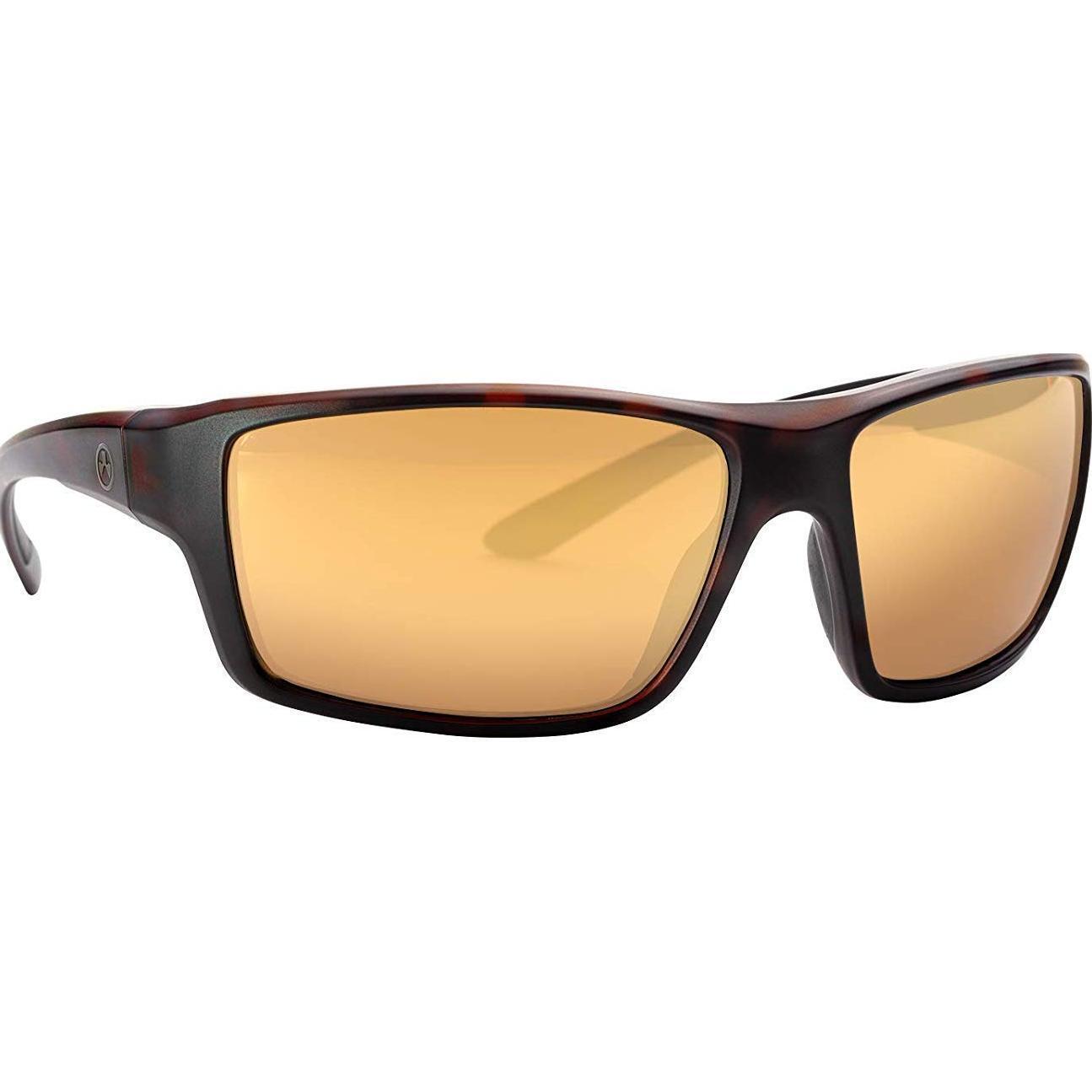 Magpul Summit Gafas Polarizadas, Bronce Lente, medio oro marco Grande, Tortuga
