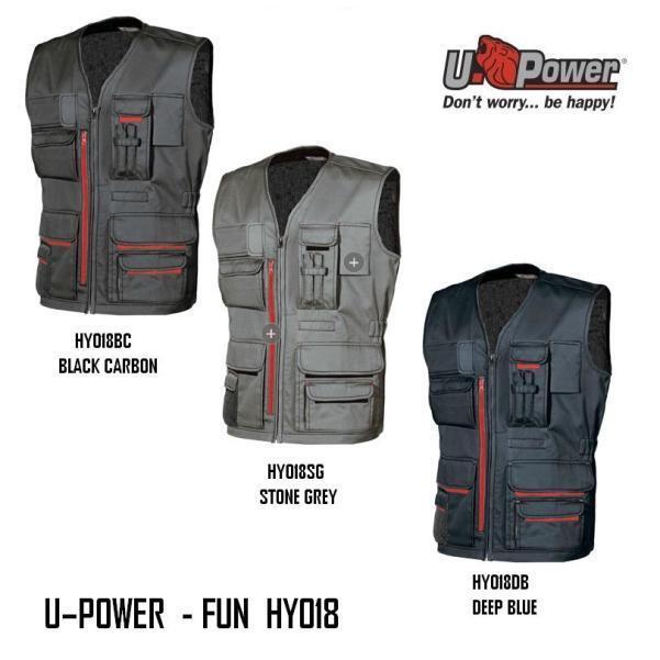 Gilet Dotato di Tasche Multifunzionali Fun U-Power