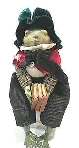 VINTAGE-DET-56-HANDCRAFTED-DOLL-FROG-BY-CREATED-BY-ARTIST-MARYLISA-CHESNUTT