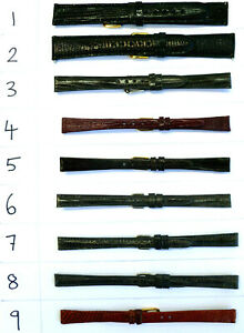 GENUINE-LIZARD-LEATHER-WATCH-BAND-STRAP-CHOOSE-FROM-VARIOUS-SIZES-amp-COLOURS
