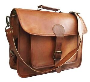 7efe313ff62 Image is loading Mens-Leather-Shoulder-Messenger-Bags-Business-Work-Bag-