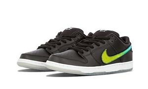 Nike DUNK LOW PRO SB Black Multi-Color White Skate Discounted (527) Men's Shoes