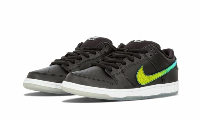 online store 0b368 bf768 Nike DUNK LOW PRO SB Black Multi-Color White Skate Discounted (527) Men's  Shoes