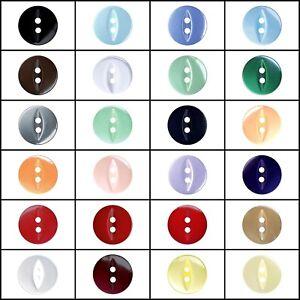 12mm Black Baby Fisheye Buttons x 25