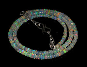 """3-4 MM Natural Ethiopian Welo Fire Opal Rondelle Beads 3/"""" 1 Strand Opal"""