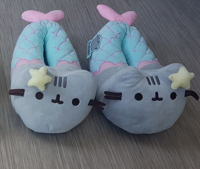 Pusheen Official Mermaid Meowmaid Plush 3D Slippers Footlets  One size UK  3-7.5
