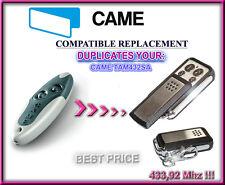 CAME TAM432SA compatible remote control replacement, 433,92Mhz CLONE