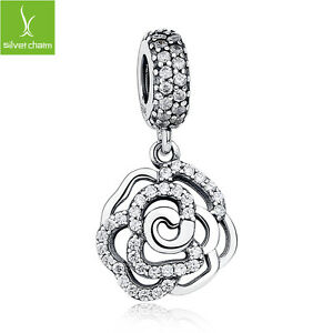 S925-Sterling-Silver-Daisy-Rose-Flower-Charms-Pendant-With-Pave-CZ-Fine-Jewelry
