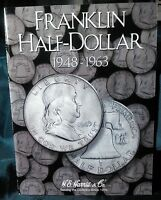 H.e. Harris Franklin Half Dollar 1948-1963 Coin Folder, Album Book 2695