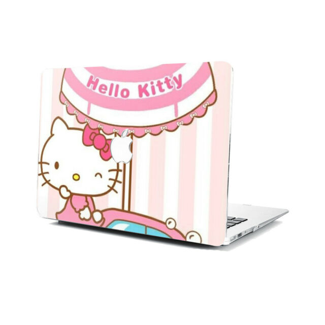 Cartoon Hello Kitty Hard Rubberized Case Cover For Apple Macbook Pro Air Retina