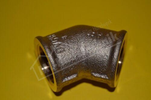 Fitting Rotguss Nr 3120 Winkel ii 45° Grad 1//2-3//4-1 Zoll DVGW