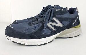 New-Balance-990v4-M990NV4-Running-Shoes-Navy-Blue-Mens-Made-in-USA-Sz-11-US