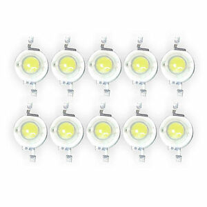 10-Pcs-3W-White-LED-Chip-bead-200-230-Lm-45mil-6000K-6500K