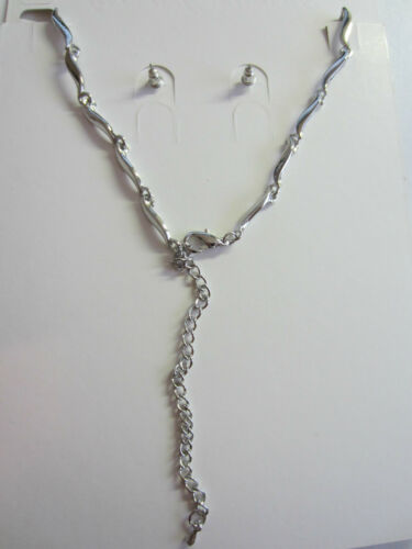 Bridal Wedding Jewelry Set Rhinestone Pearl Floral Vine Design Necklace Earrings