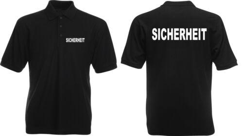 4XL verschiedene Druckfarben zur Auswahl SE7 SECURITY ORDNER Polo Shirt S