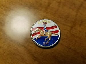 1999 Delaware Colorized Statehood Quarter; Free Shipping
