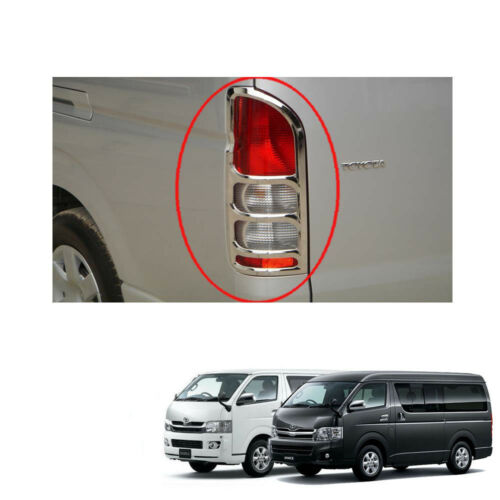 Tail Lamp Light Chrome Cover Trim 2 Pc For Toyota Hiace Commuter Van 2005-2013