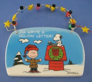 image is loading peanuts christmas plaque charlie brown snoopy doghouse write