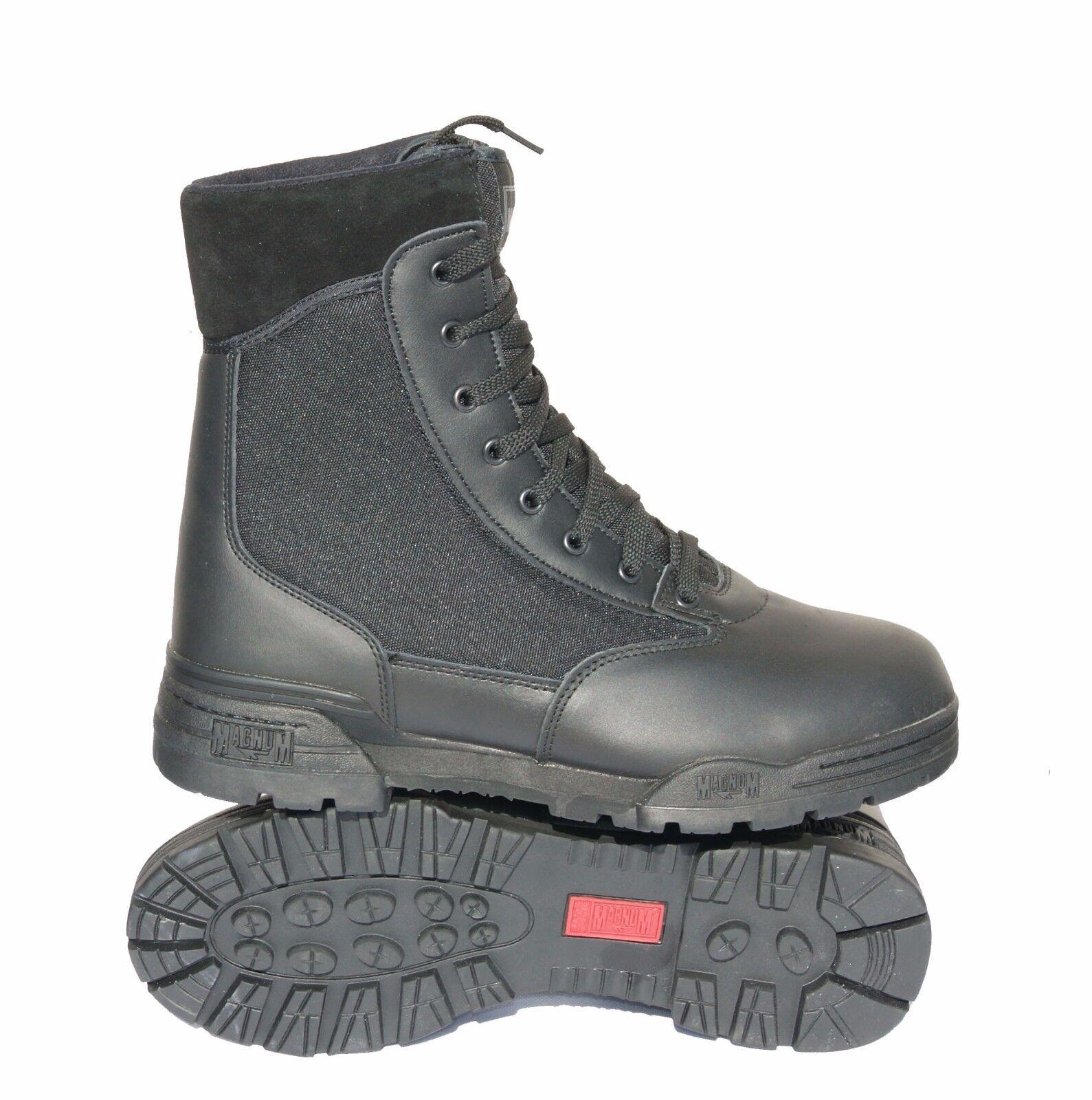 HITEC MAGNUM CLASSIC BOOTS BLACK HI TEC MILITARY POLICE ARMY CADETS PARAMEDIC NA