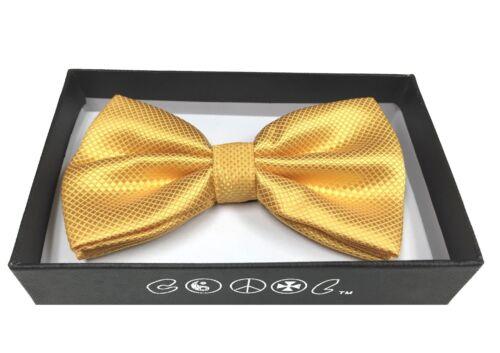 Adult Bow Tie Adjustable Strap Diamond Shape Gold