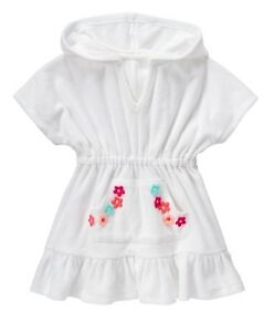e10a7aca33 Image is loading NWT-Gymboree-Girl-Swim-Shop-White-Terry-Flower-