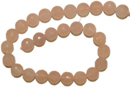 B1-02 4 mm de rosas cuarzo balas Strang con facetas
