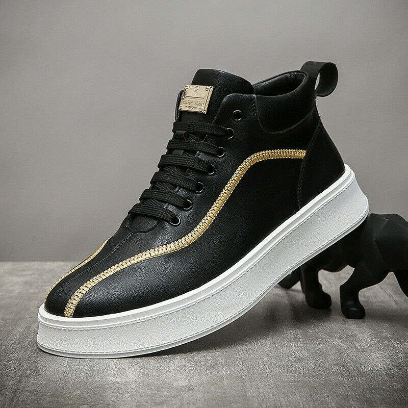 High-top shoes men's casual shoes mid-top trend Korean fashion trendy Shoes
