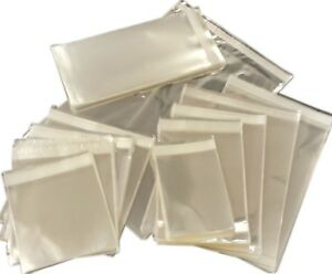 Clear-CELLO-bags-for-Display-Self-Seal-Cellophane-Sac-cartes-cadeaux-photo-TRAITE
