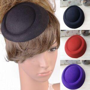 Women Girls DIY Fascinator Base Felt Like Pillbox Hat Material Make ... 3c4f02ae19e