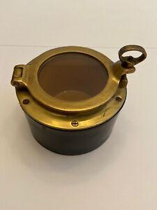 Vintage-Humidor-Nugg-Jar-Tobacco-Cigar-Herbs-Porthole-Lancaster-amp-Sandland