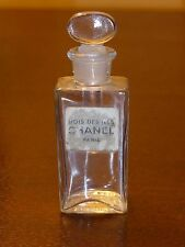 Vintage Chanel Bois Des Iles MINIATURE COLLECTIBLE BOTTLE W GLASS STOPPER - 2.5""